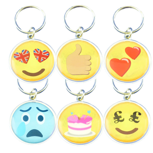 Pack of Emotives Metal Keyrings - 6 for £5, 15 for £10 - FREE UK POSTAGE