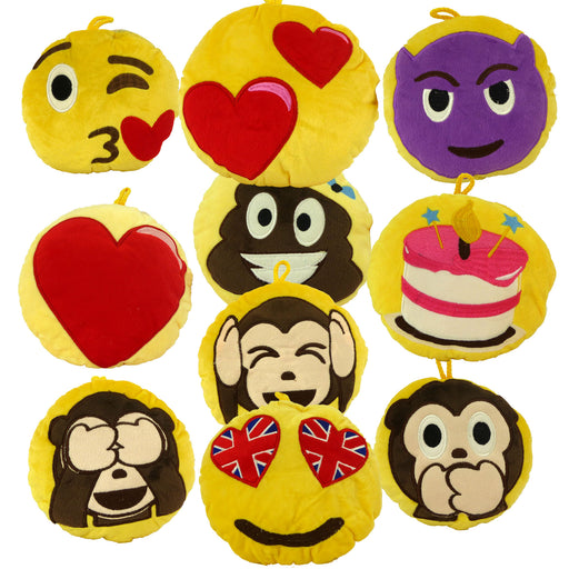 Pack of Emotives Hang-Ups - Decorative Plush - 6 FOR £10, 10 FOR £15 - FREE UK POSTAGE