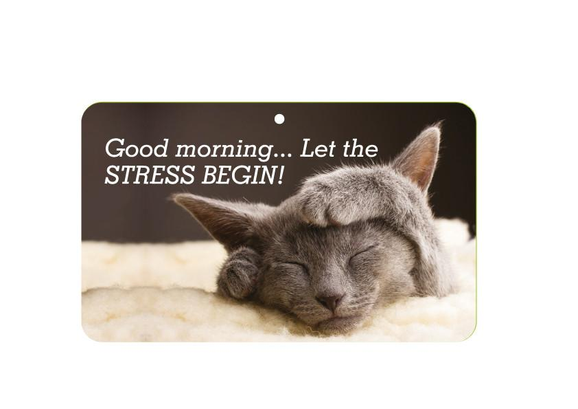 FN021 Fun Sign - Good Morning Let The Stress Begin