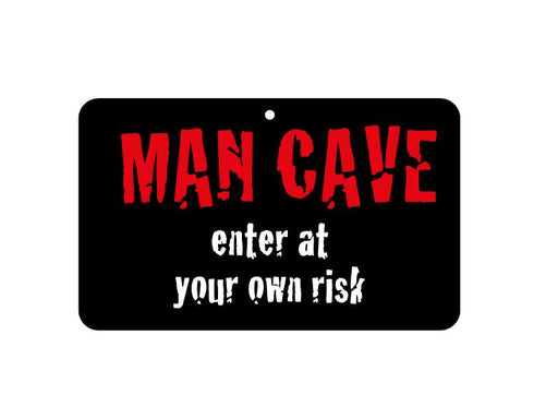 FN048 Fun Sign - Man Cave - Enter At Your Own Risk