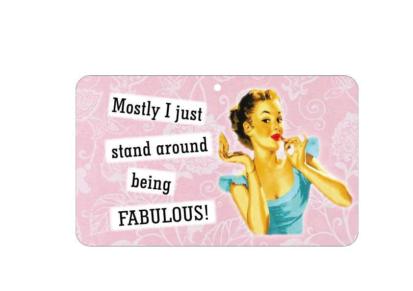 FN052 Fun Sign - Mostly I Just Stand Around Being Fabulous