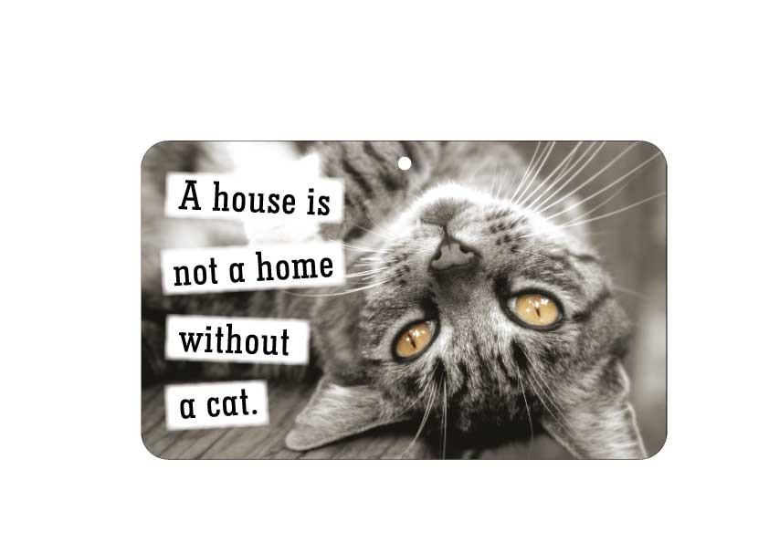 FN056 Fun Sign - A House Is Not A Home Without A Cat
