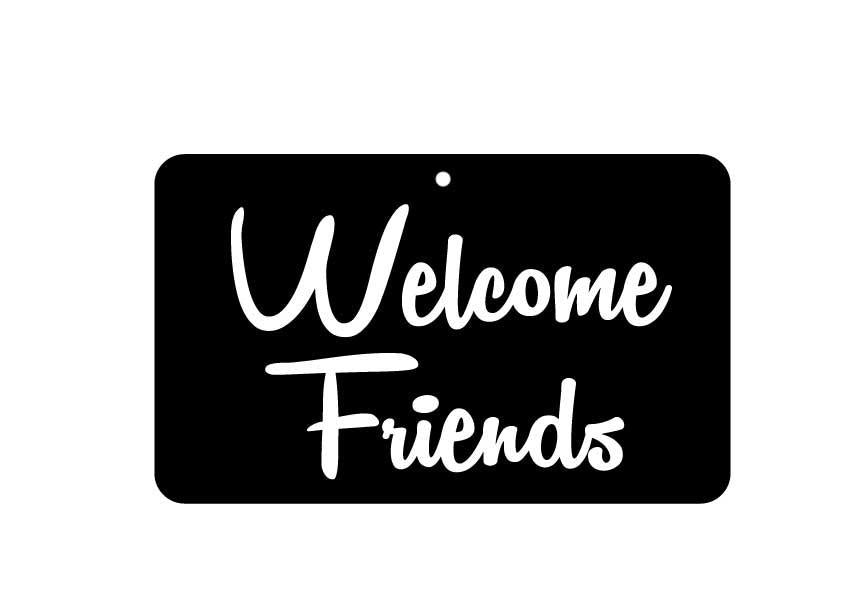 FN064 Fun Sign - Welcome Friends