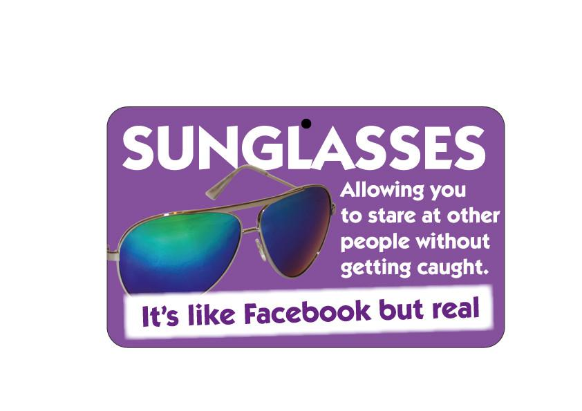 FN111 Fun Sign - Sunglasses: Like Facebook But Real