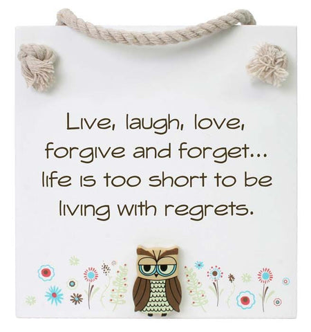 FS07-2 Splosh Free Spirit Live Laugh Sign