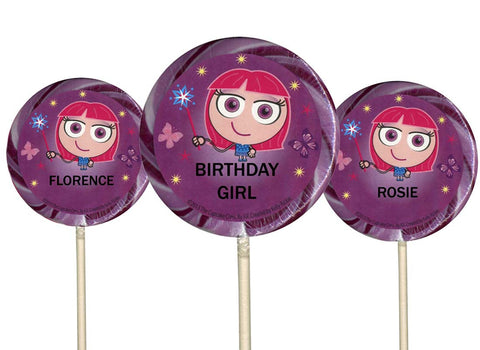 Personalised Lollipop for Girls - Choose Any Name - 3 Designs
