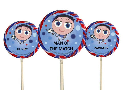 Personalised Lollipop for Boys - Choose Any Name - 3 Designs