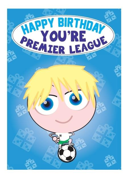 Birthday Card - Premier League