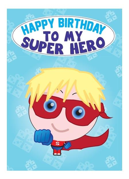 Birthday Card - Super Hero Boy