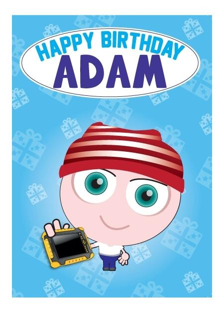 Birthday Card - Adam