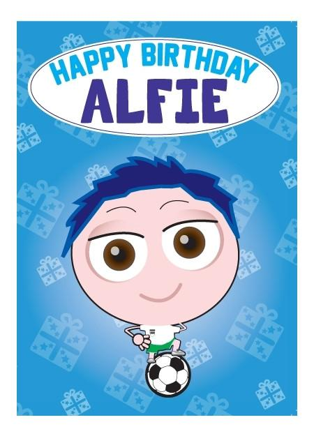 Birthday Card - Alfie