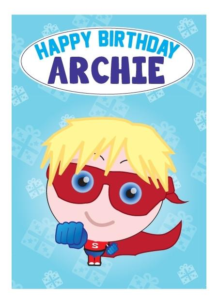 Birthday Card - Archie