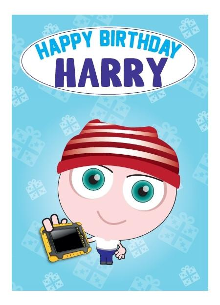 Birthday Card - Harry