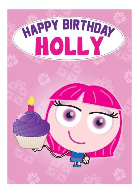Birthday Card - Holly