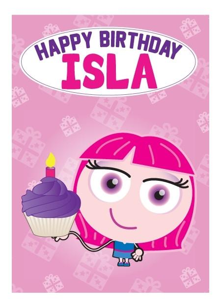 Birthday Card - Isla