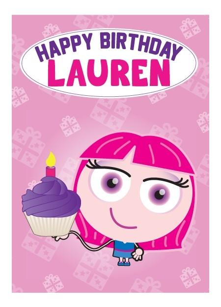 Birthday Card - Lauren