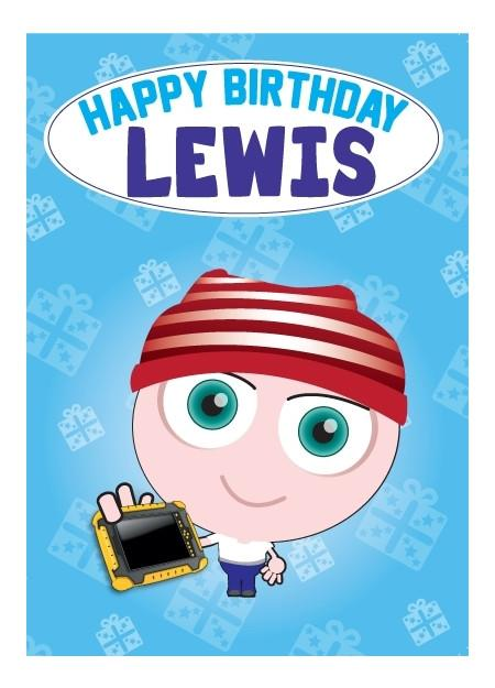 Birthday Card - Lewis
