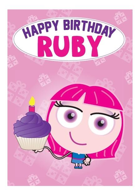 Birthday Card - Ruby