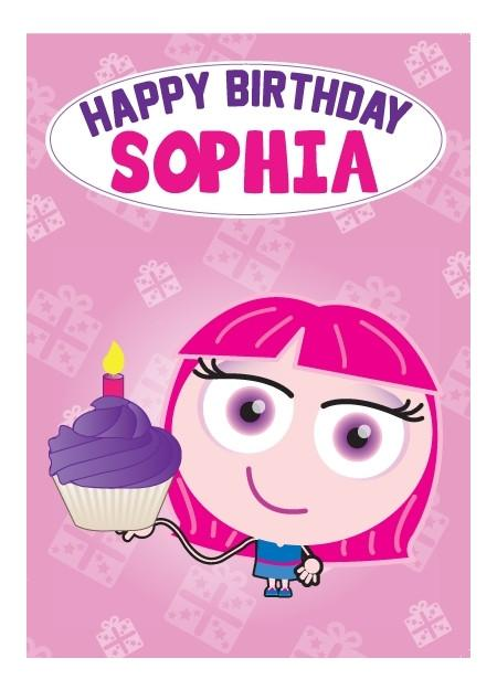 Birthday Card - Sophia
