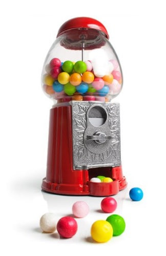 Metal Gumball Machine - Red