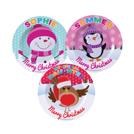 Christmas Dinner Plate - Girls Names