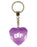 BFF Diamond Heart Keyring - Purple