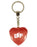 BFF Diamond Heart Keyring - Red