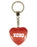 XOXO Diamond Heart Keyring - Red