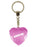 Hands Off Diamond Heart Keyring - Pink