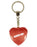 Hands Off Diamond Heart Keyring - Red