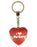 I Love My Cat Diamond Heart Keyring - Red