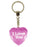 I Love You Diamond Heart Keyring - Pink