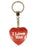 I Love You Diamond Heart Keyring - Red