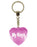 My Keys Diamond Heart Keyring - Pink