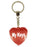 My Keys Diamond Heart Keyring - Red