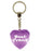 Best Friend Diamond Heart Keyring - Purple