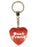 Best Friend Diamond Heart Keyring - Red