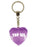 Top Sis Diamond Heart Keyring - Purple