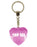Top Sis Diamond Heart Keyring - Pink