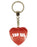Top Sis Diamond Heart Keyring - Red