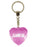 Glamour Girl Diamond Heart Keyring - Pink