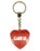 Glamour Girl Diamond Heart Keyring - Red