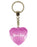 Mums Keys Diamond Heart Keyring - Pink