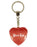 Mums Keys Diamond Heart Keyring - Red
