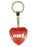 OMG Diamond Heart Keyring - Red