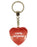 100% Gorgeous Diamond Heart Keyring - Red