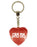 Gr8 M8 Diamond Heart Keyring - Red