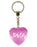 Party Girl Diamond Heart Keyring - Pink