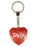 Party Girl Diamond Heart Keyring - Red