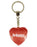 Princess Diamond Heart Keyring - Red